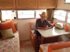 in the trailer of my dreams at the vintage trailer show